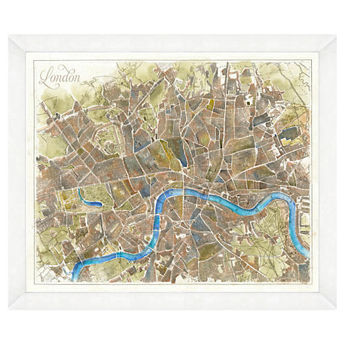 Watercolor London Map