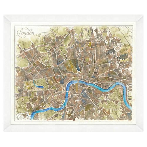 Watercolor London Map