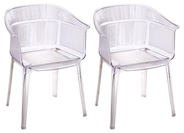 DNU, Dis Translucent Chairs, Set of 4
