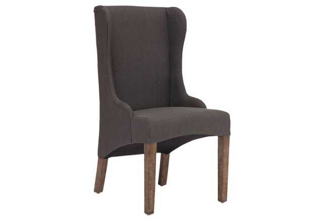 Moore Side Chair, Charcoal