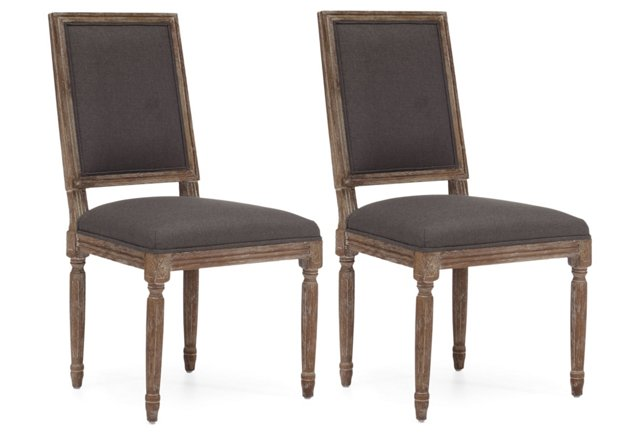 Charcoal Cole Chairs, Pair
