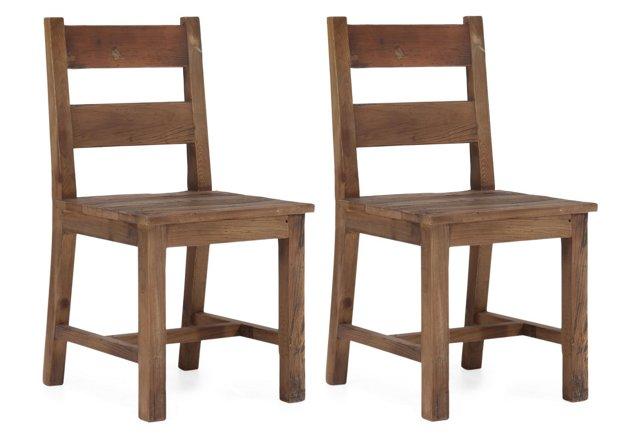 Natural Turner Chairs, Pair