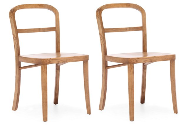 Natural Cooper Chairs, Pair