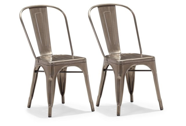 Sanders Dining Chairs, Pair