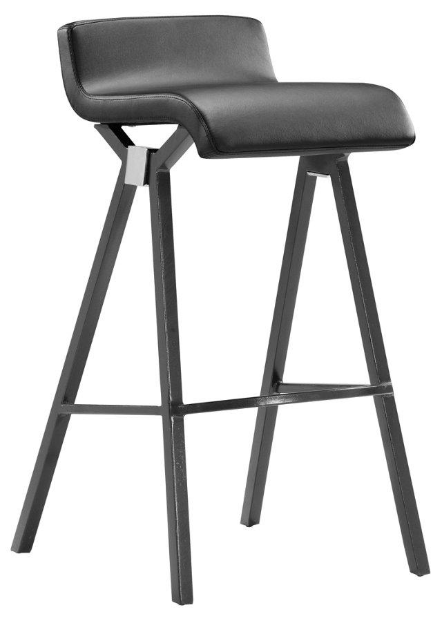 Black Xert Bar Chair, Pair