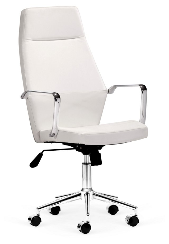 Caldwell High-Back Office Chair, White