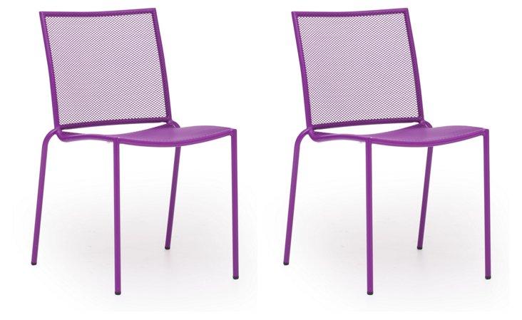 Purple Repulse Bay Chairs, Set of 4