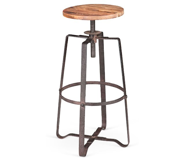 Wilde Barstool, Distressed Natural