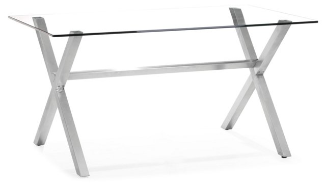 Graphite Dining Table, Clear