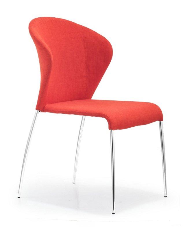 Tangerine Oulu Chairs, Pair
