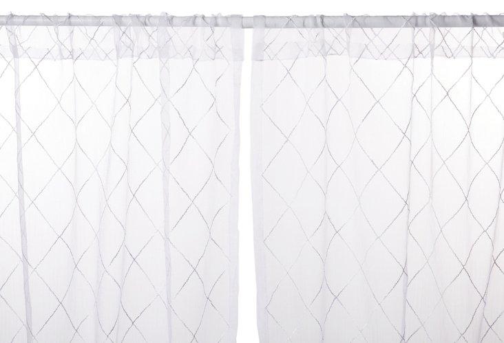"Liona 96"" Curtain, White"