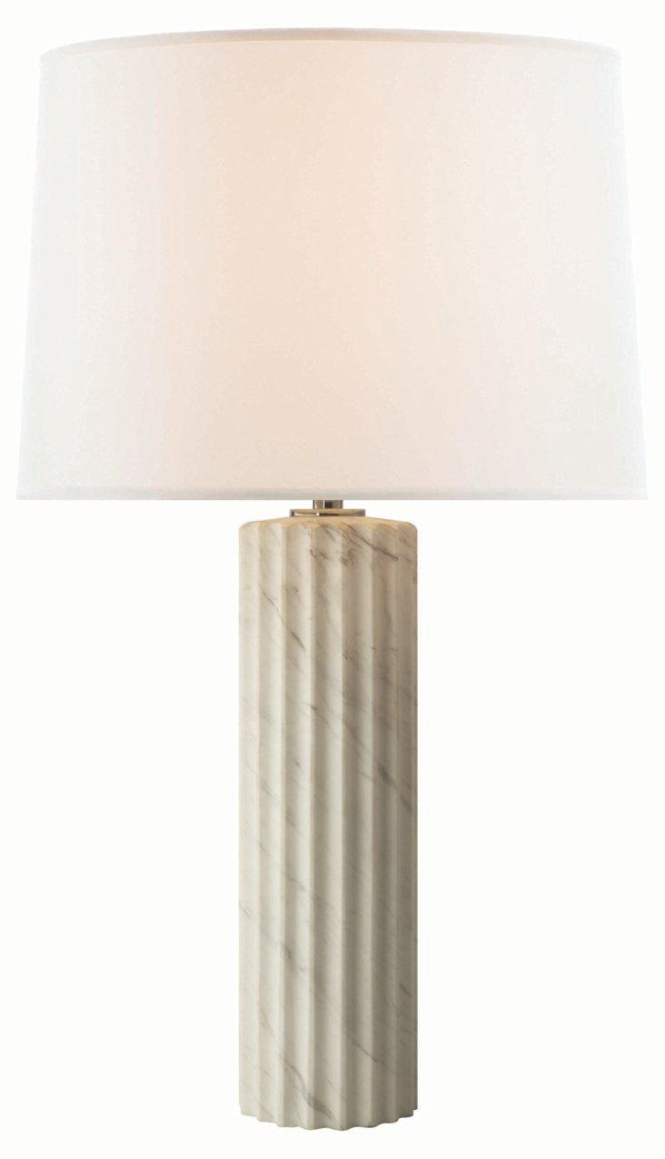 Darlton Table Lamp, White Marble
