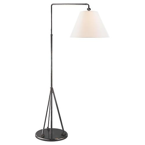 Brompton Swing-Arm Floor Lamp, Bronze