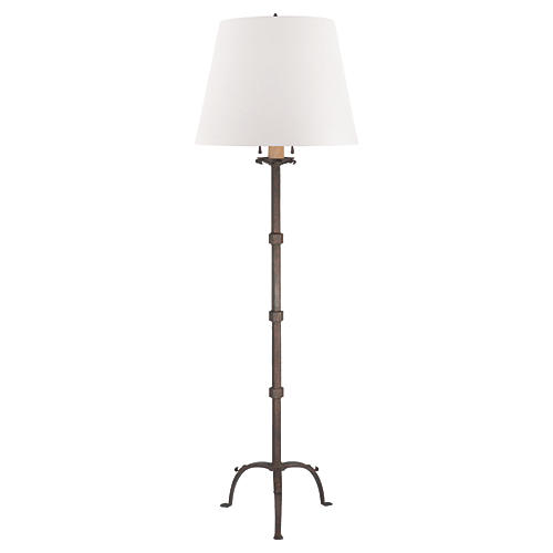 Robertson Floor Lamp, Natural Rust