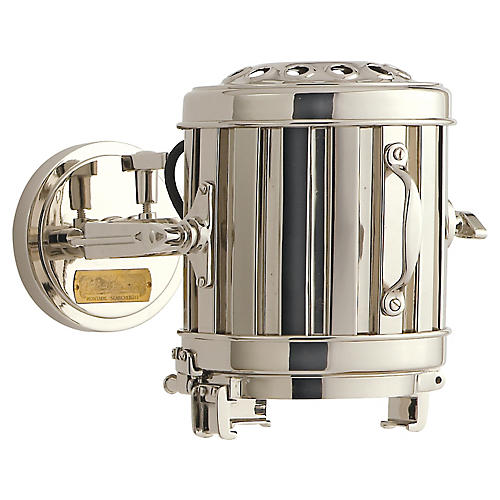 Montauk Sconce, Polished Nickel