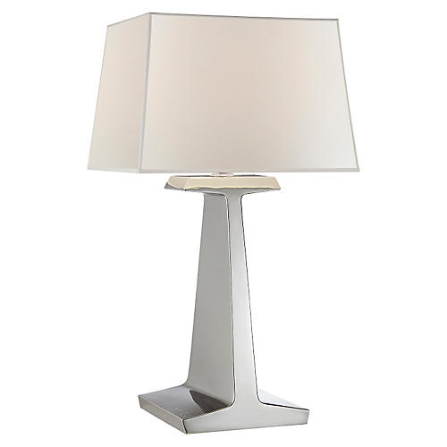 Ludlow Table Lamp, Polished Nickel