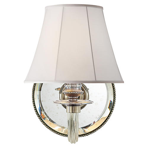 Aymeline Single Sconce, Butler's Silver