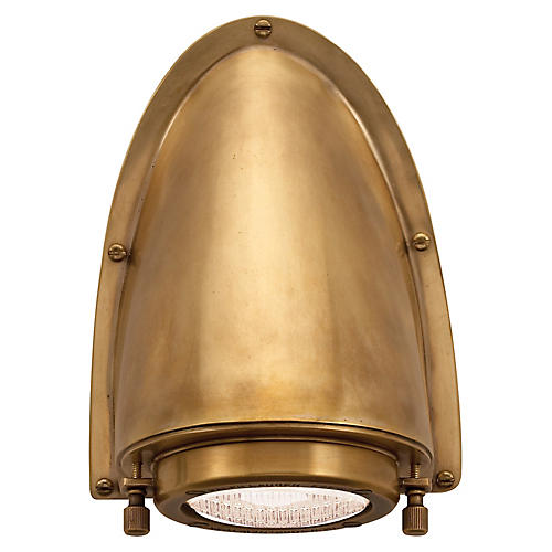 Grant Sconce, Natural Brass