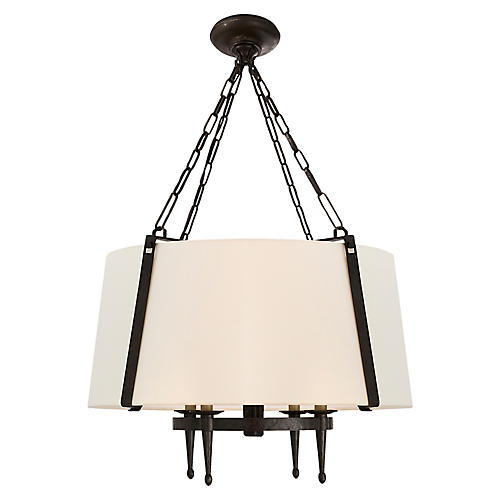 Branson 4-Light Hanging Shade, Aged Iron