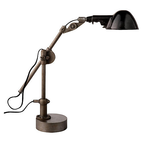 Freeman Table Lamp, Industrial Steel