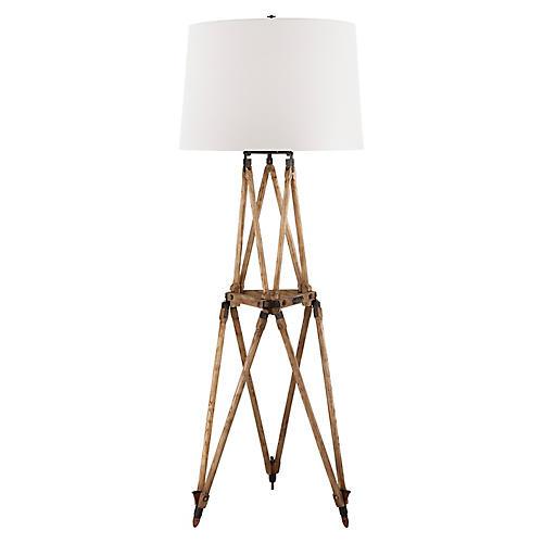 Quincy Floor Lamp, Vintage Oak