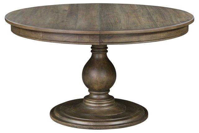"Tipton 54"" Round Dining Table, Ash"