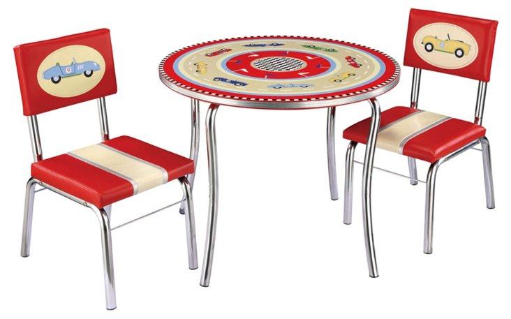 Ollie Retro Table & Chair Set