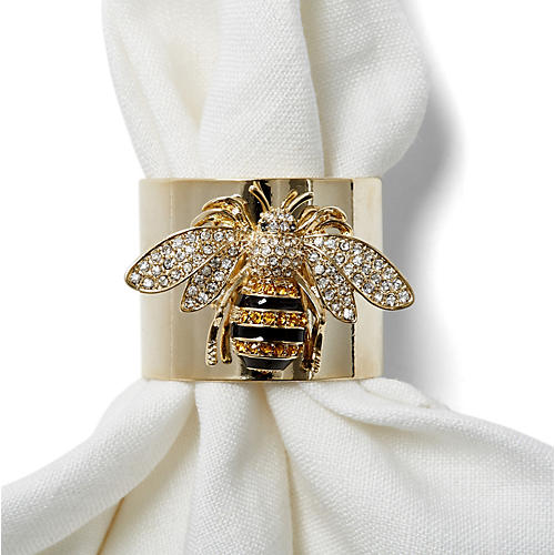 S/2 Bee Napkin Rings