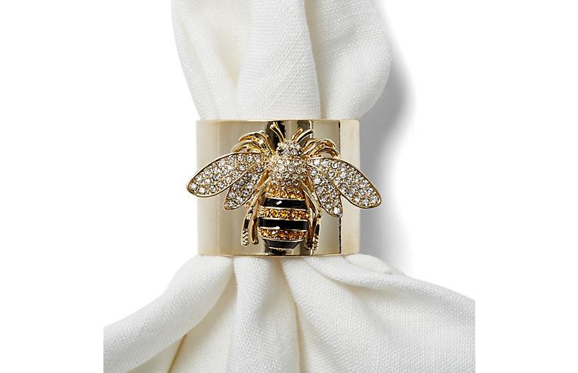 S/2 Bee Napkin Rings