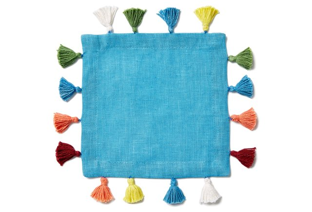 Pom Pom Cocktail Napkins | One Kings Lane
