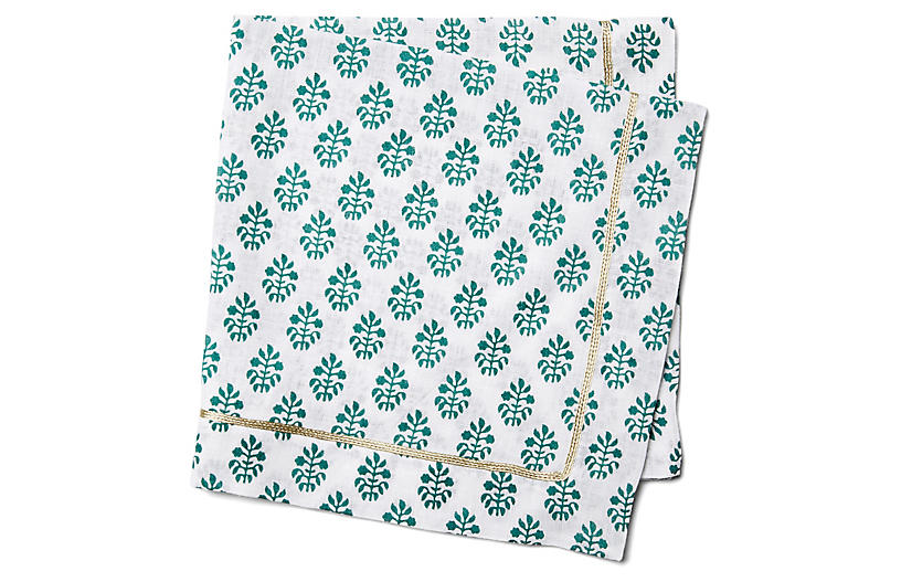 S/2 Leaf-Print Dinner Napkins