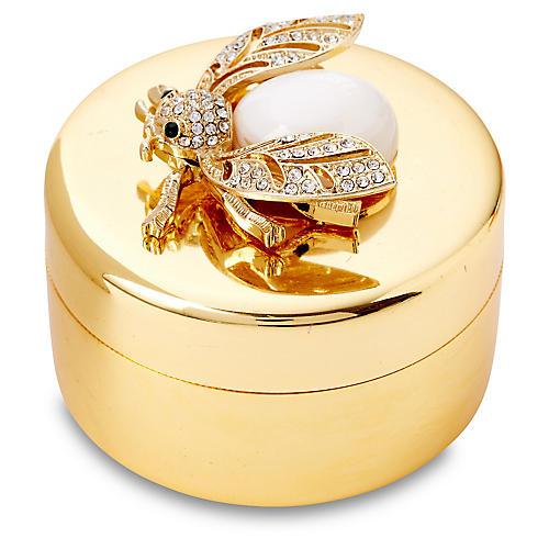 "3"" Brass Box w/ Bug, Gold"