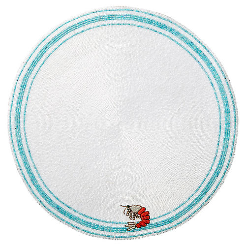 Shrimp Place Mat, White/Multi