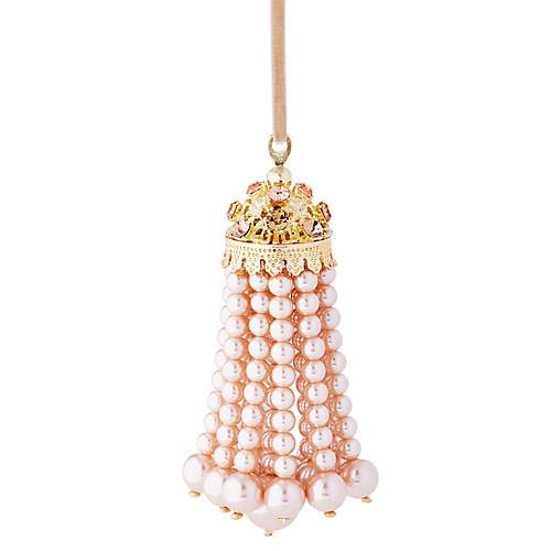 Hanging Pearl Tassel Ornament, Pink/Multi