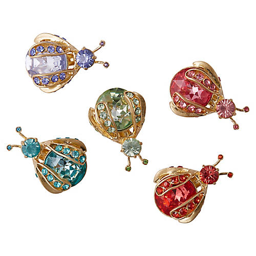 Rainbow Mini-Bug Clip Ornaments, Gold/Multi