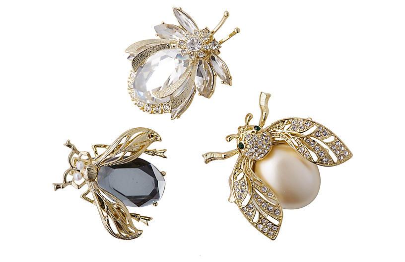 Classic Sparkle Bug Ornaments - Black - Joanna Buchanan
