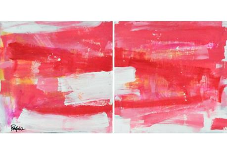 Robbie Kemper, Assorted Pinks Diptych