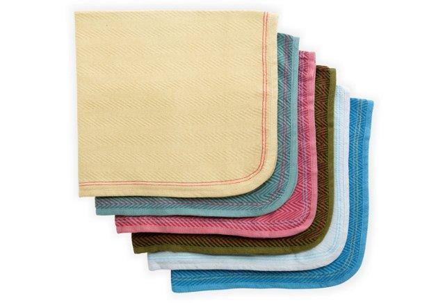 Set of 6 Assorted Burp Cloths, Cornwall
