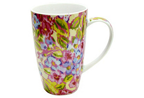 S/4 Dena Mugs, Tight Floral