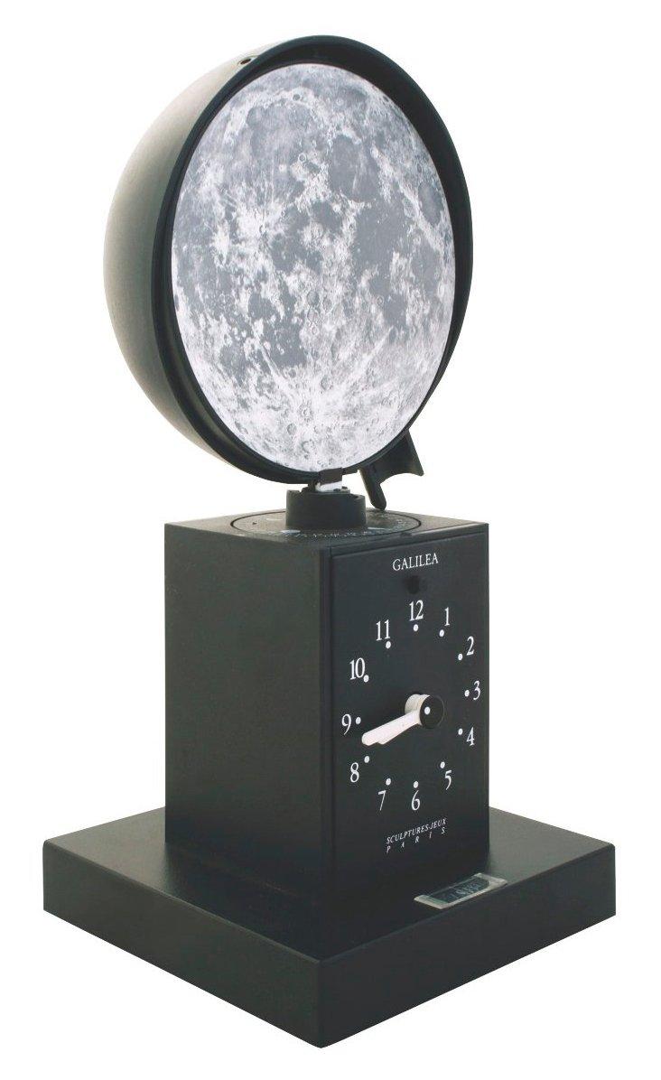 Galielea Moon Phase Clock, Black
