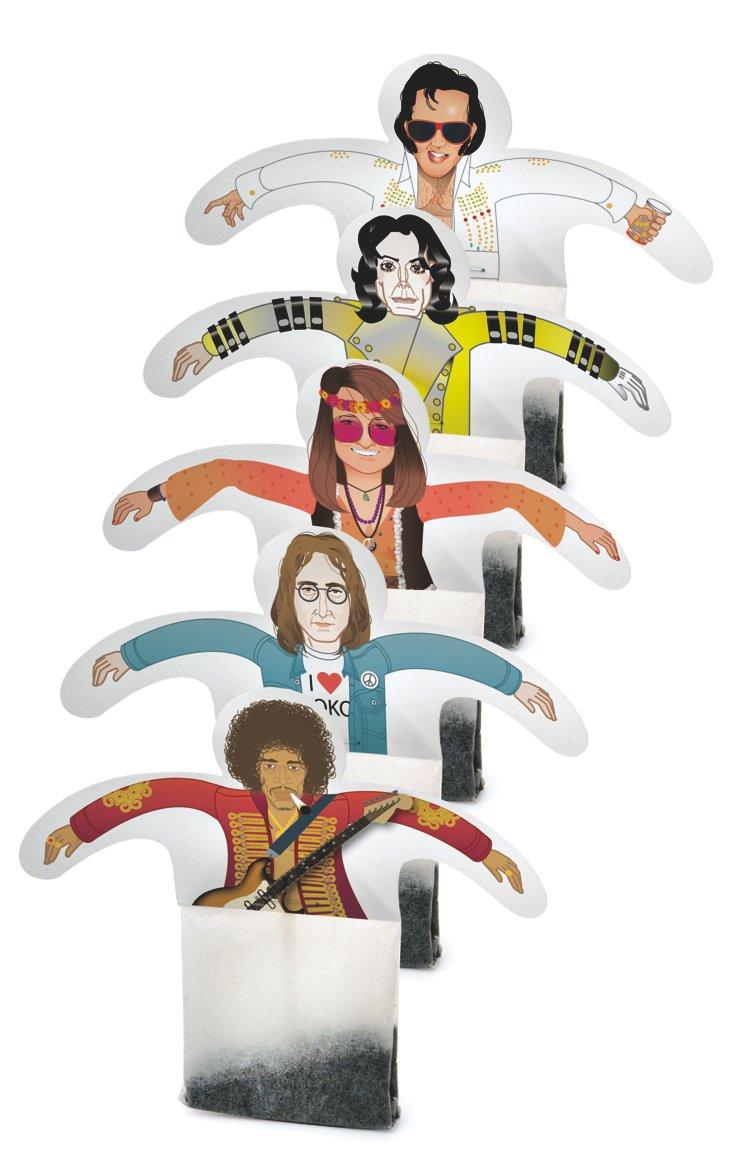 Rock & Roll Tea Bags, S/15