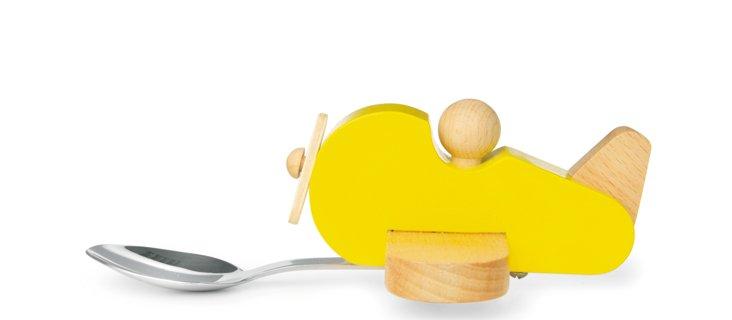 Plane Baby Spoon, Yellow