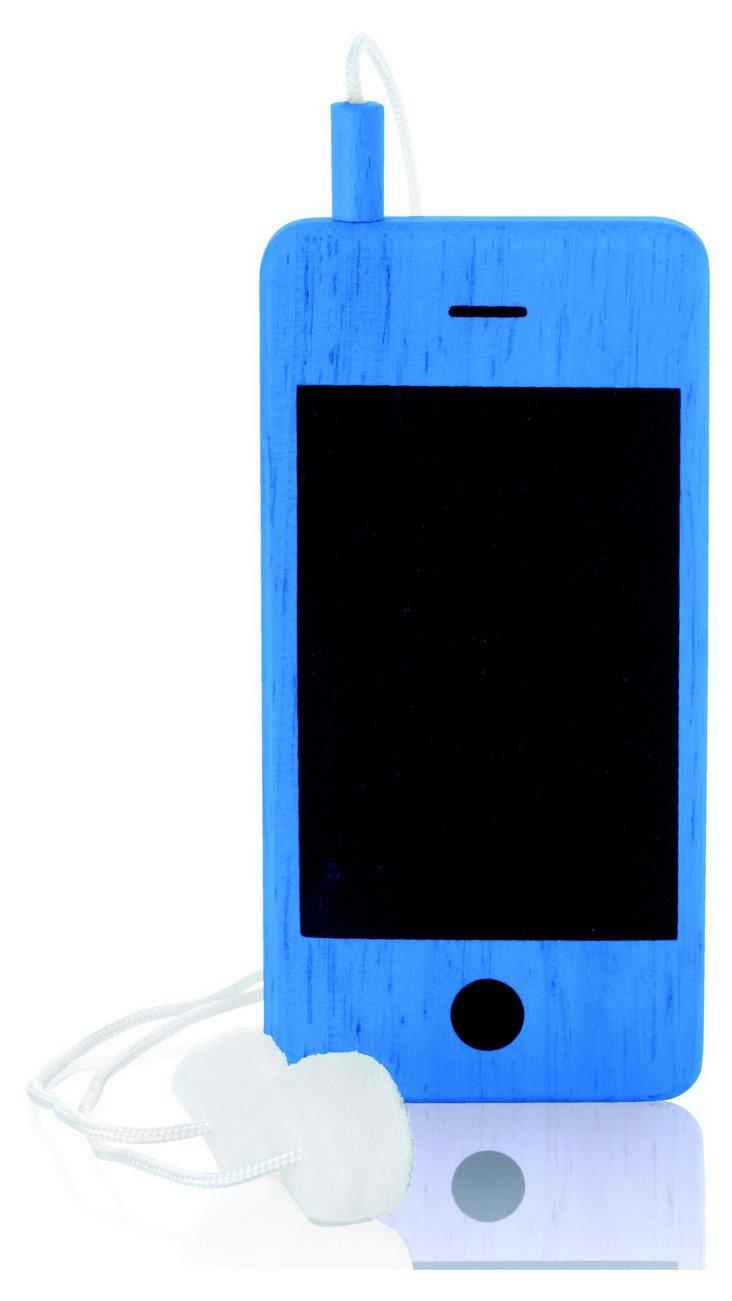 I-Woody Chalkboard Phone, Blue