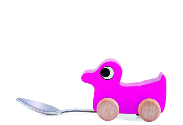 Baby Duck Spoon, Pink