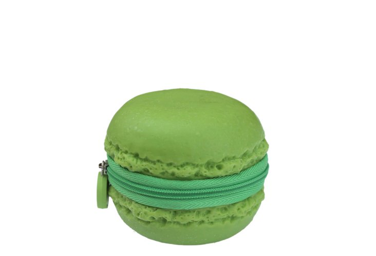 S/2 Macaron Coin Purses, Green