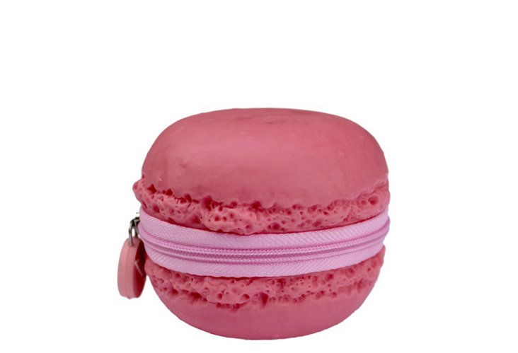 S/2 Macaron Coin Purses, Pink