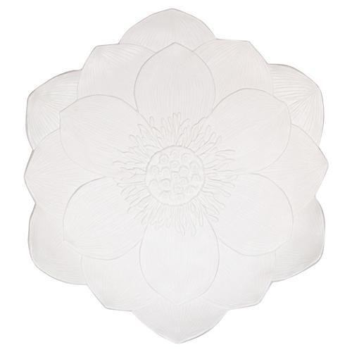 Large Melamine Platter, Lotus