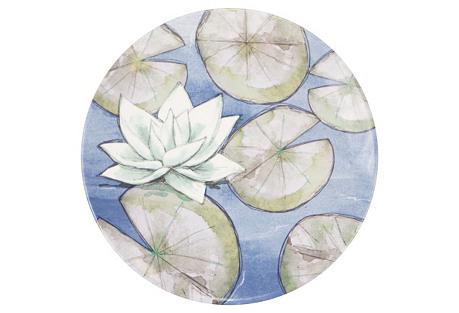 S/4 Melamine Dinner Plates, Lotus