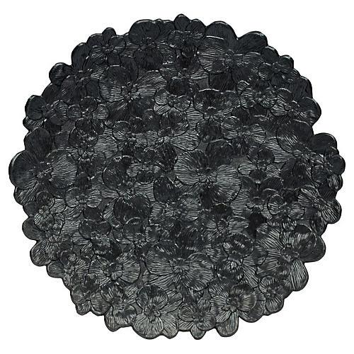 Orchid Melamine Platter, Black