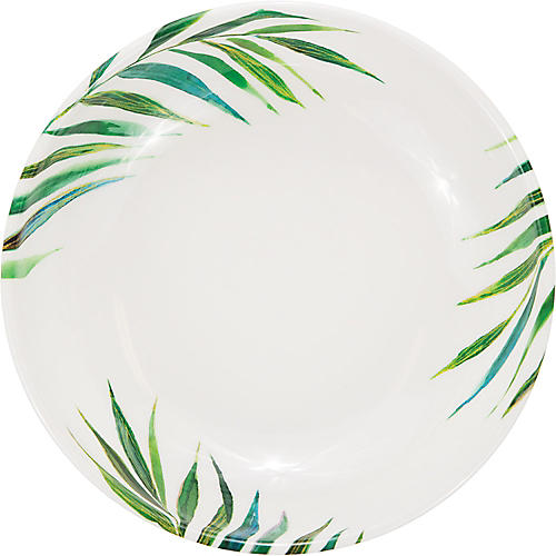 Palm Bowl, Green/White